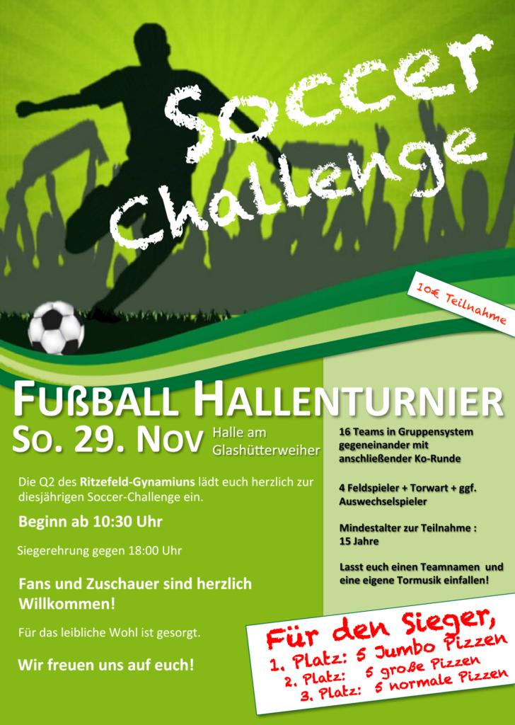 Soccer Challenge des Ritzefeld-Gymnasiums 2015