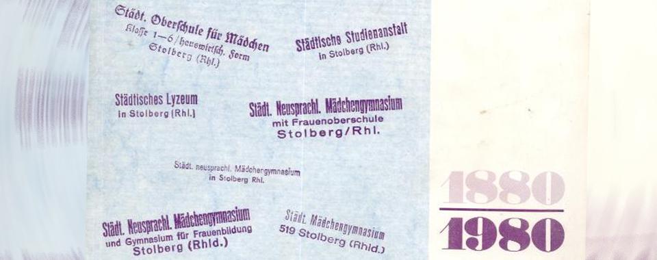 Die Geschichte des Ritzefeld-Gymnasiums - von Dr. August Brecher