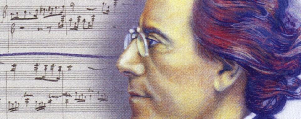 Briefmarke zum 150. Geburtstag von G. Mahler - Detail