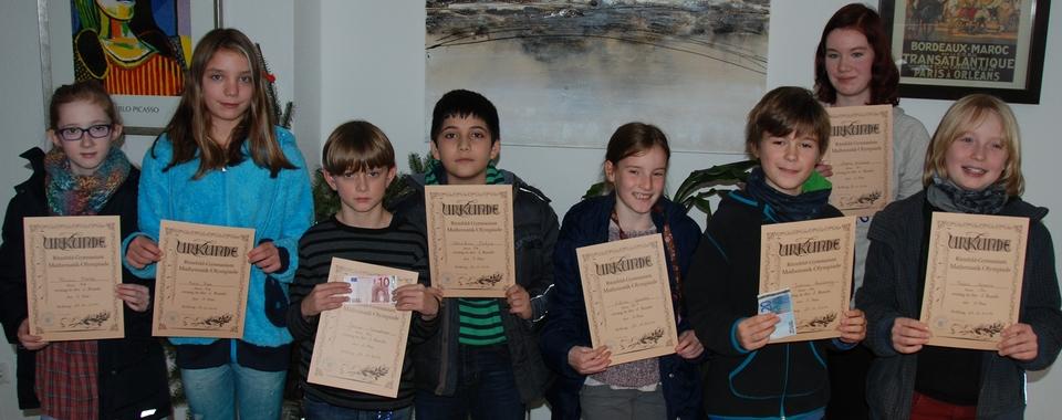 Unsere Teilnehmer an der Mathematik-Olympiade