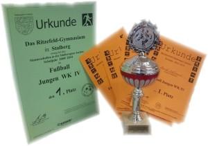 Urkunden und Pokal
